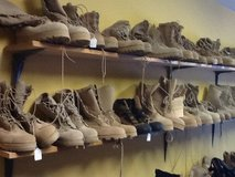 Military boots in Fort Knox, Kentucky