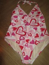 (Sz14/16 Girls) Bathing Suit w/HEARTS, sz 14/16 Youth/Kids GIRL in Kingwood, Texas