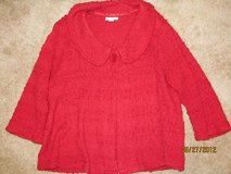 Ladies Christopher Banks Red Sweater Jacket XL in Fort Benning, Georgia