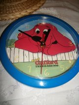 #3003 CLIFFORD THE RED DOG WALL CLOCK - $10 (HARKE in Fort Hood, Texas