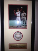 """The Hit"" Autographed Pete Rose Shadow Box in Wiesbaden, GE"
