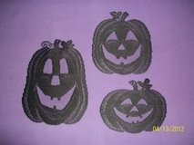 "BN black ""lace"" Halloween jack-o-lanterns in Goldsboro, North Carolina"