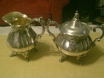 Silver Creamer and Sugar Bowl set in Camp Lejeune, North Carolina
