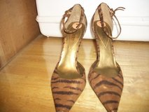 P31 GUESS ANIMAL PRINT 3 INCH HEEL SHOES NEW SZ 7 in Fort Hood, Texas